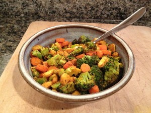 Indian-spiced veggies