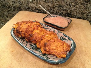 Sweet Potato Latkes and Changes in the New Year