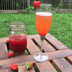 Strawberry-Rhubarb-Mint Fizz
