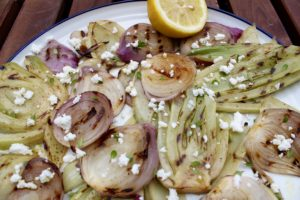 Grilled Fennel and Red Onion Salad
